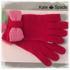 KATE SPADE ♠️ Tech Friendly Gloves Colorblock Bow